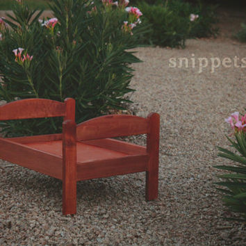 Newborn Photography Bed Prop in Redwood Stain - wooden photo prop, large photo props, furniture props