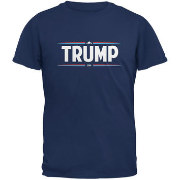 Election 2016 - Trump Thin Stripes Metro Blue Adult T-Shirt