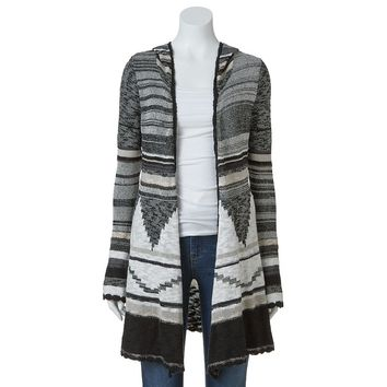 Mudd Tribal Hooded Cardigan - Juniors from Kohl's