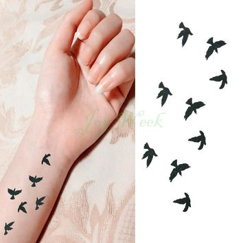 Waterproof Temporary Tattoo Sticker fly birds tattoo fresh small size girl tatto stickers flash tatoo fake tattoos
