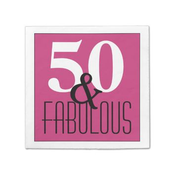 Elegant 50 and Fabulous Birthday Birthday Napkin