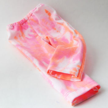 American girl doll clothes AG doll apparel 18 in doll clothes tie dye dyed pants18 in doll pants doll separates  pink orange white