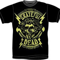 Grateful Dead T-Shirt - Gold Skull & Roses