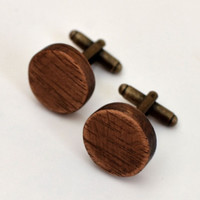 Merryn Wood Round Cuff Links