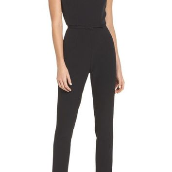 Adrianna Papell Crepe Jumpsuit | Nordstrom