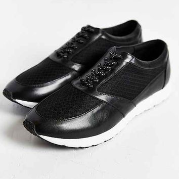 Mosson Bricke Leather Running Sneaker- Black