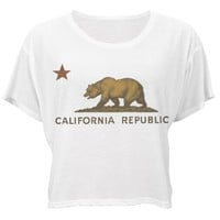 California Rebellion: Custom Bella Flowy Boxy Lightweight Crop Top T-Shirt - Customized Girl