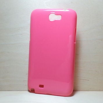 For Samsung Galaxy Note 2 Rose Pink Hard plastic case