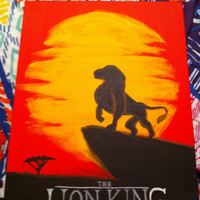 Disney The Lion King inspired 16x20 Canvas Painting