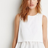 Layered Ruffle-Hem Top