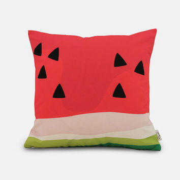watermelon / outdoor scatter cushion