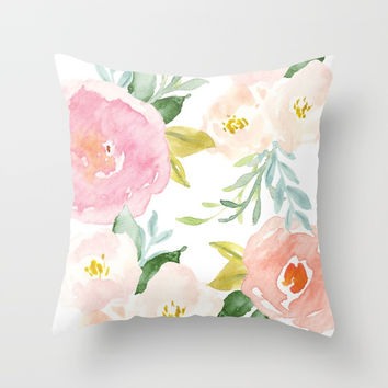Floral 02 Throw Pillow by creative index