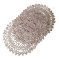Handmade Vintage Doilies-Tatting-Ivory or Ecru-Round-Open Work-Lacey-Wedding-Home Decor-Tatted Lace-Set of 3-Matching-Cottage Chic