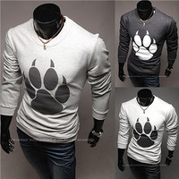 Bear Paw Print Long Sleeve T-Shirt