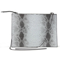 Clutch Bag In Snake Print