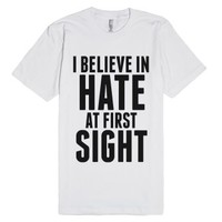 I Believe In Hate At First Sight T-shirt Id7271834-White T-Shirt