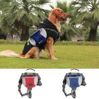 Medium Size Outward Pet Dog Backpacks Pet Saddle Bag For Training Camping Hiking