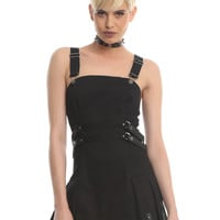 Tripp Black Strap Bondage Dress