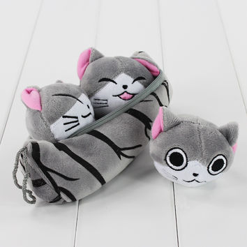 New Arrival Chi's Sweet Home Soft Stuffed Plush Toys 3 in one Pea Pod Zippered Bad Free