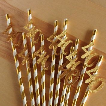 10pcs Paper Straw with Numbers