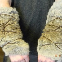 Fur Arm Bracers by tatejamie on Etsy