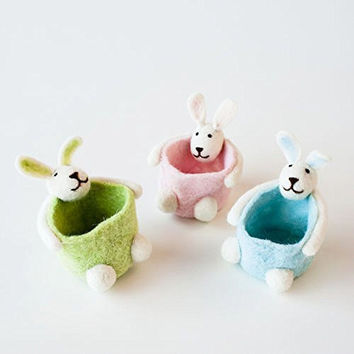 One Hundred 80 Degrees Pastel Colors Miniature Bunny Baskets (Set/3)