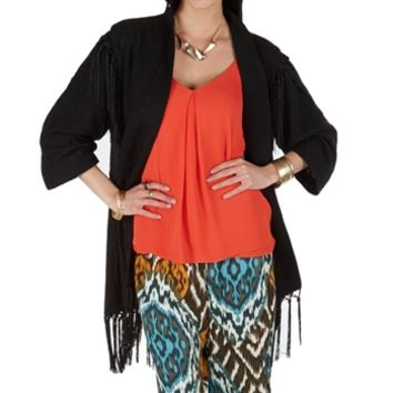 Sam Edelman Women's Contemporary Tribal Spirit Kimono Jacket with Fringe at Von Maur