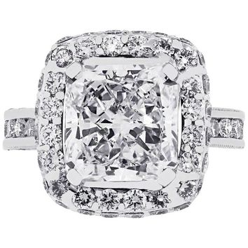 GIA Certified 3.05 Carat Radiant Cut Diamond Engagement Ring