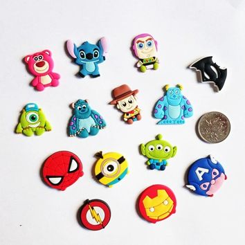 50Pcs Cartoon Toy story Bear Buzz Heros Woody Anime Decoration Silicone Flatback DIY Phone Case Badge Gadgets Kids Gifts Charms