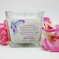 Wedding Memorial Candle, In Loving Memory, Memorial Candles, Angel Candle, Sympathy Candle