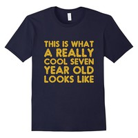 7th Birthday Shirt Gift Cool Age 7 Year Old Boy Girl Tshirt