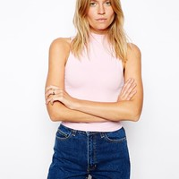 ASOS Crop Top with Turtle Neck