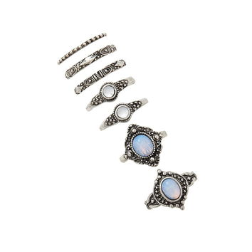 Faux Stone Ring Set | Forever 21 - 1000202323