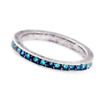 Micropave Silver Plated Ring