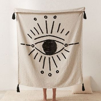 Tufted Eye Throw Blanket | Urban Outfitters