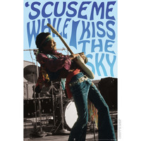 Jimi Hendrix - Kiss the Sky Poster on Sale for $6.99 at HippieShop.com