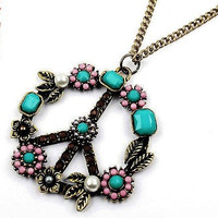 Bohemian Peace Sign Pendants COLORFUL Quality peace pendent necklace