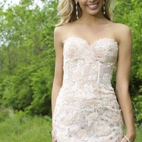 2014 Fitted Jovani Homecoming Dress Style 79215