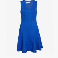 10 CROSBY DEREK LAM EXCLUSIVE EXPOSED SEAM FLARE DRESS: BLUE