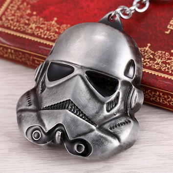 H&F New Hot Star Wars 3 Colors Keychain StormTrooper Helmet Storm Trooper Pendant Key Chain Darth Vader Mask Superhero Keyring