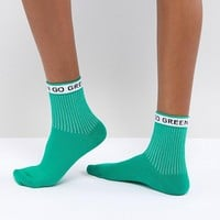 ASOS Go Green Ankle Socks at asos.com