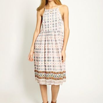 Santorini Sunsets Printed Dress