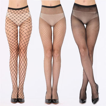 Sexy Fishnet Stockings Female Fish Net Pantyhose Black Mesh Lingerie Sheer Tights