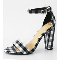 Frenzy Gingham Sandals