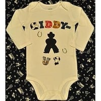 Giddy-Up Western Cowboy Onesuit, Baby :: Onesuits & T-Shirts :: Clickin Cowgirls