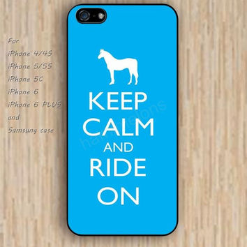iPhone 6 case horse keep calm iphone case,ipod case,samsung galaxy case available plastic rubber case waterproof B101