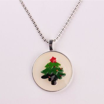 Christmas tree Necklace 50 cm Chain