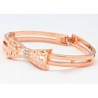Crystal  Rose Gold Copper Bracelet Fashion Jewelry