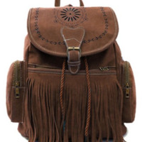 Boho Tassel Backpack Bag