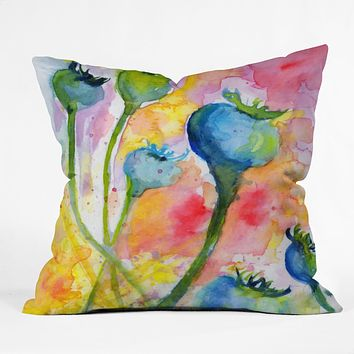 Ginette Fine Art Poppy Pods Throw Pillow